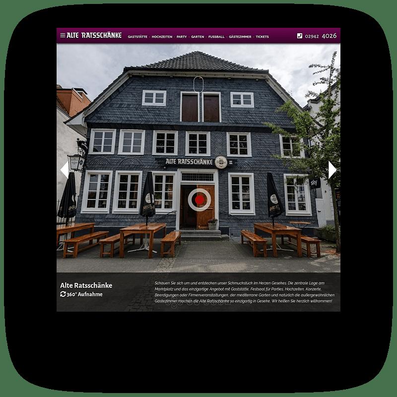 Alte Ratsschänke Vorschaubild Website