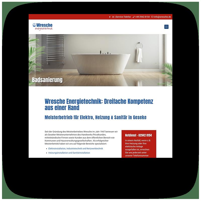 Wresche Energietechnik Vorschaubild Website