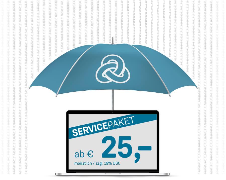 etcetc Werbeagentur Servicepaket Titelbild mit Regenschirm