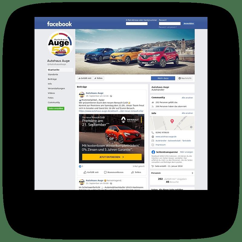 Autohaus Auge Social Media