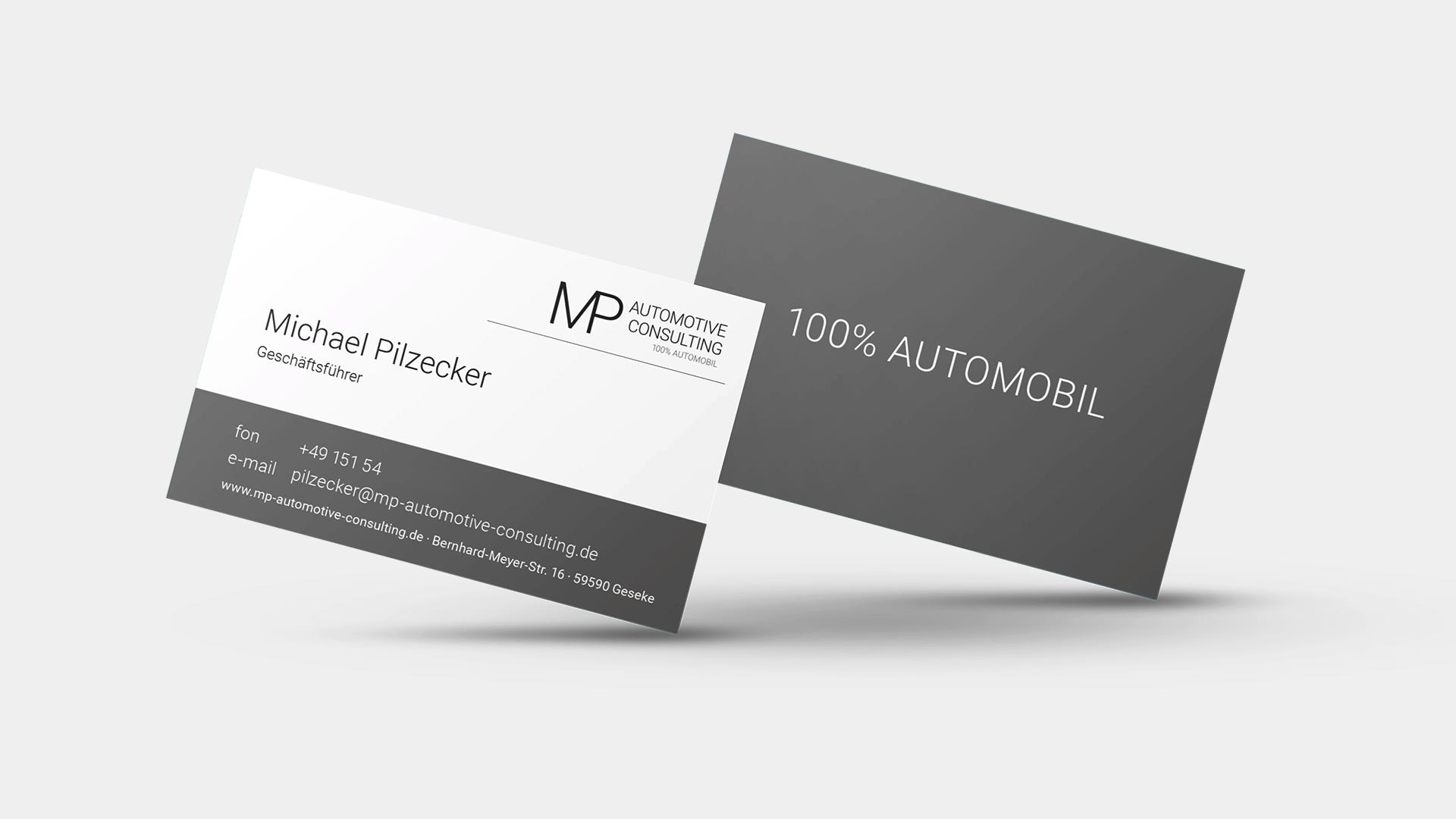 etcetc Werbeagentur MP Automotive Visitenkarten