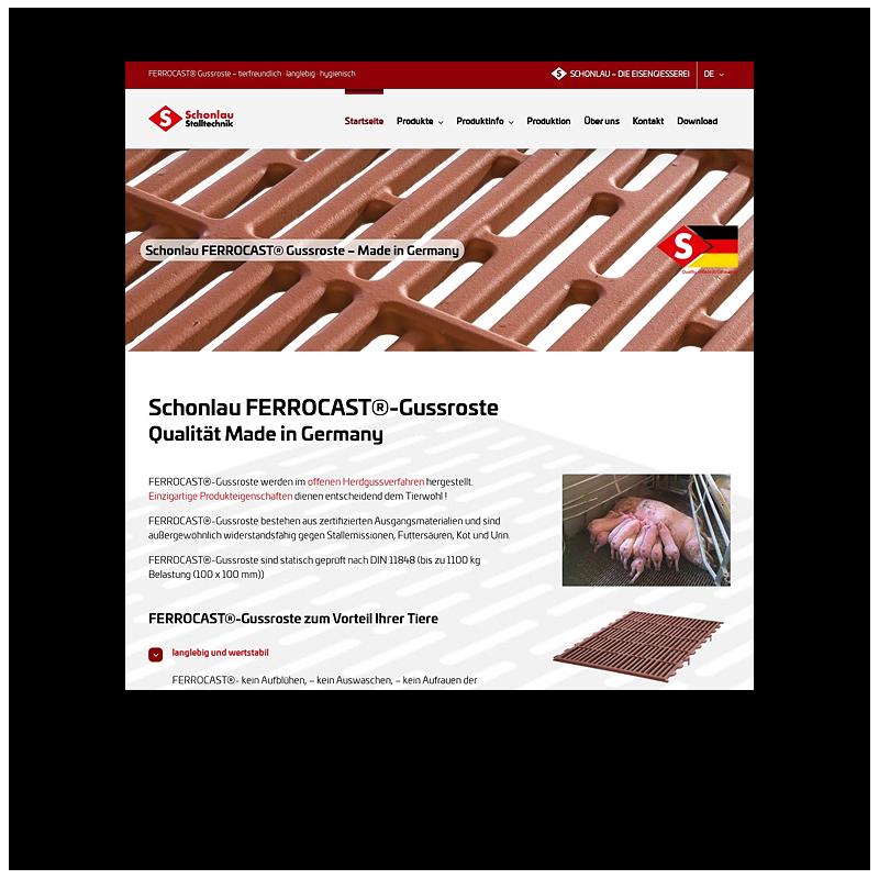 Schonlau Stalltechnik Website