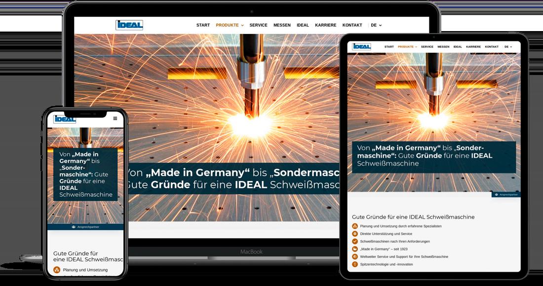etcetc Website für das IDEAL Werk Lippstadt