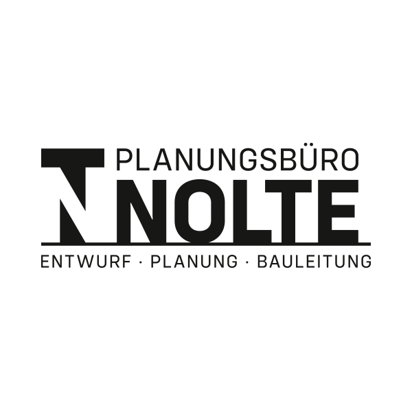 Planungsbüro Nolte Logo schwarz weiß