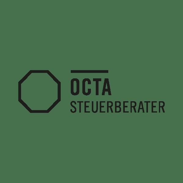 Octa Steuerberater Logo schwarz weiß