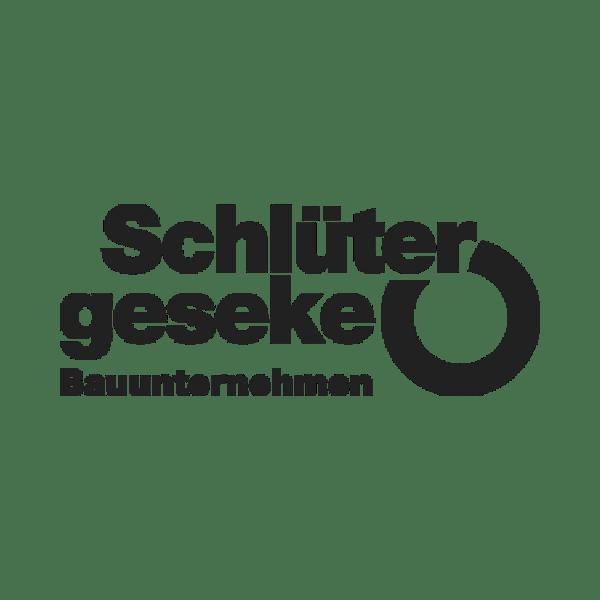 Schlüter Geseke Bauunternehmen Logo schwarz weiß
